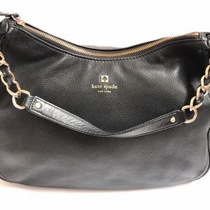 Kate Spade Handbag Black Leather Satchel Shoulder